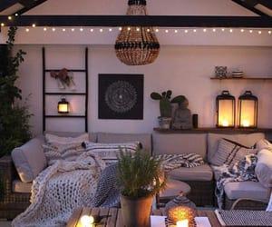 home, room, and lights image