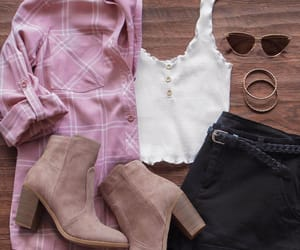 autumn, boots, and chic image