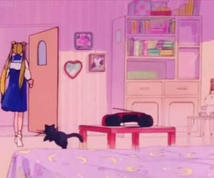cat, luna, and 80s image