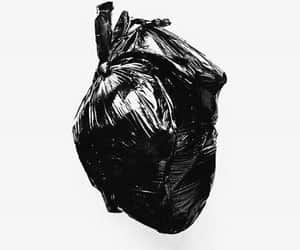 heart, black, and art image