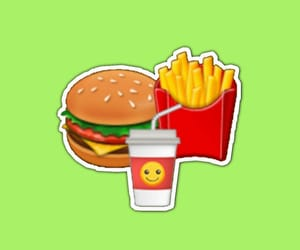 aesthetic, burger, and fries image