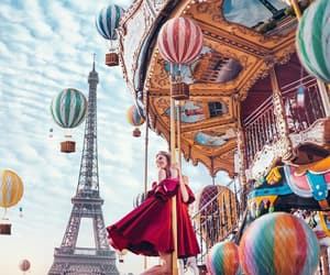 eiffel tower, model, and woman image