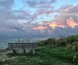 bench, breathe, and clouds image