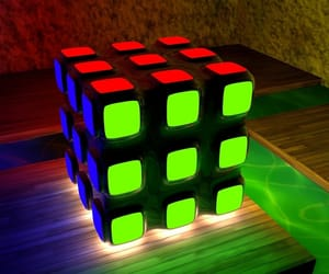 art, cube, and dice image