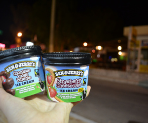 brownie, summer, and ben&jerry's image