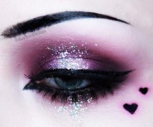 alternative, dark, and eye makeup image