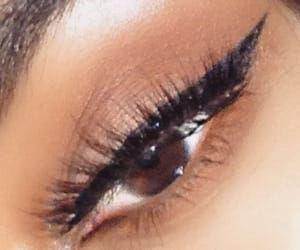 eyelashes, eyeliner, and makeup image
