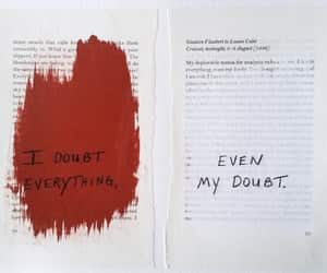 doubt, red, and art image