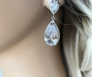 etsy, bridesmaid gift, and silver earrings image