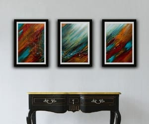 abstract art, artwork, and blue image