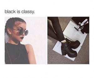 black, classy, and color image