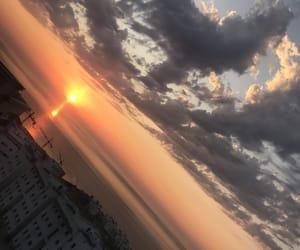 sunset, view, and marokko image