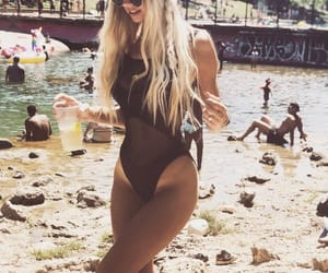 bikini, blond, and goals image
