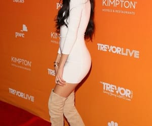 madison beer and thigh high boots image