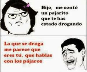 meme, droga, and pajarito image