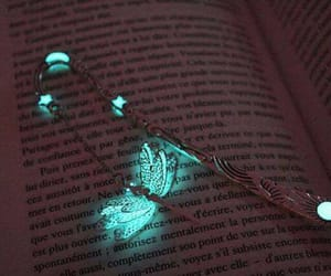 book, glowing, and papillon image