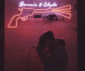 aesthetic, dark room, and neon image