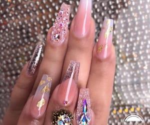 acrylic, baby pink, and acrylic nails image
