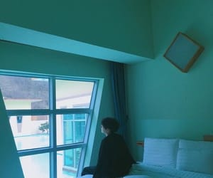 aesthetic, blue, and window image