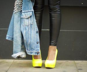 fashion, jacket, and leather pants image