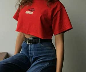 red, fashion, and girl image