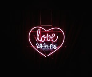neon, neon signs, and love image