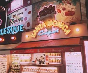 ice cream, lights, and neon image