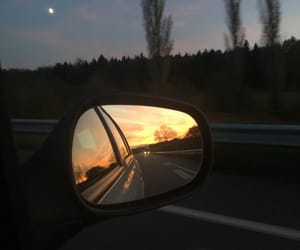 car, Road Trip, and sunset image