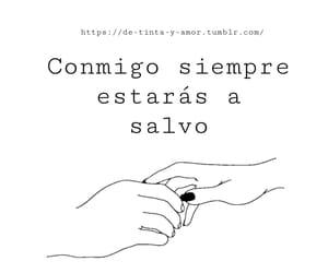 amor, frases, and conmigo image