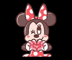 disney, heart, and minnie mouse image