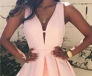 simple prom dress, short homecoming dresses, and pink homecoming dresses image