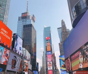 new york, time square, and travel image