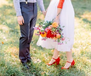 bride, shoes, and wedding image