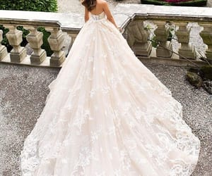 beautiful, gown, and white image