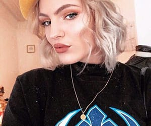 blonde, t-shirt, and design image