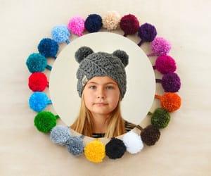 disneyland, winter, and two pom pom hat image