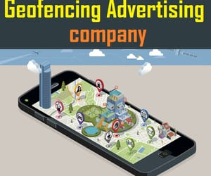 ads in smartphones, geofencing services, and geo fence technology image