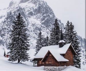 cabin, switzerland, and cozy image
