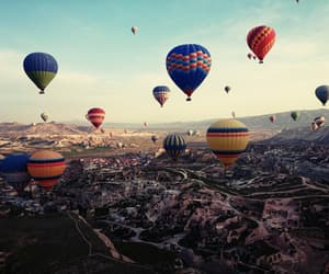 europe, travel, and hot air balloon image