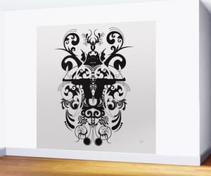 art, black and white, and decals image