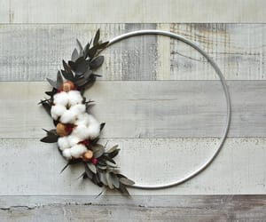 dried flowers, etsy, and modern wreath image