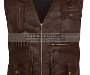 halloween jackets, film jackets, and jurassic 2 leather vest image