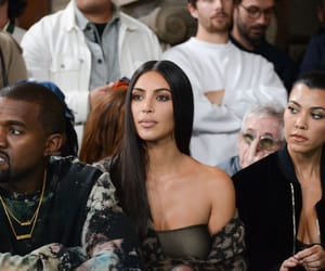 kim kardashian, kourtney kardashian, and kanye west image