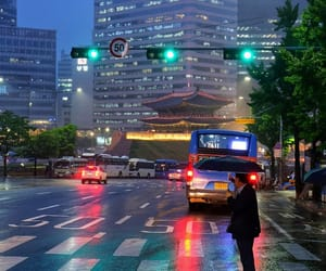 city, night, and seoul image