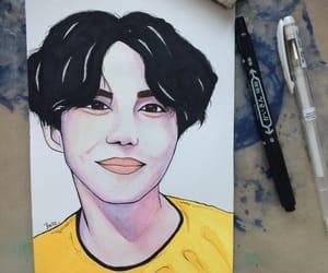 korean, watercolor, and kpopfanart image