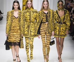 fashion show, Versace, and 2018 image