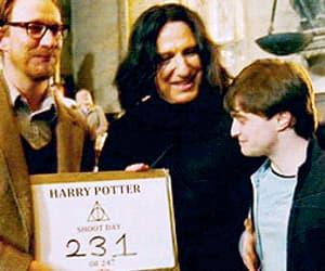 alan rickman, daniel radcliffe, and harry potter image