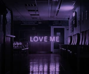 aesthetic, purple, and love image