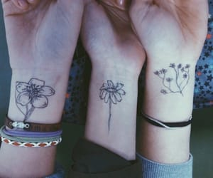 flower, friendship, and tattoo image