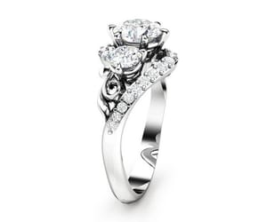etsy, floral ring, and floralring image